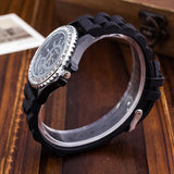 Silicone GENEVA Women Rhinestone Quartz Fashion Wrist Watch Watches - Hespirides Gifts - 14