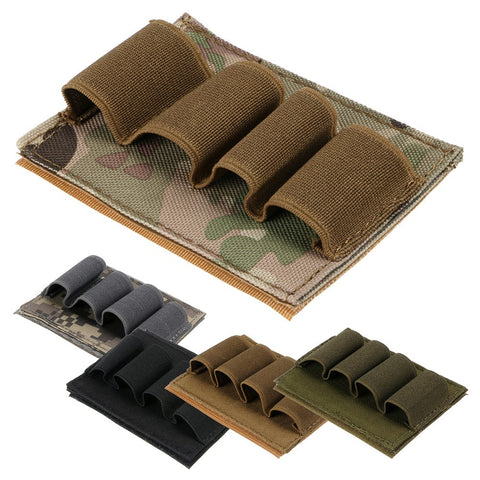 New Airsoft Tactical Hunting Shotgun Shell Ammo Carrier 4 Round Holder 12GA 5 Color - Hespirides Gifts - 1