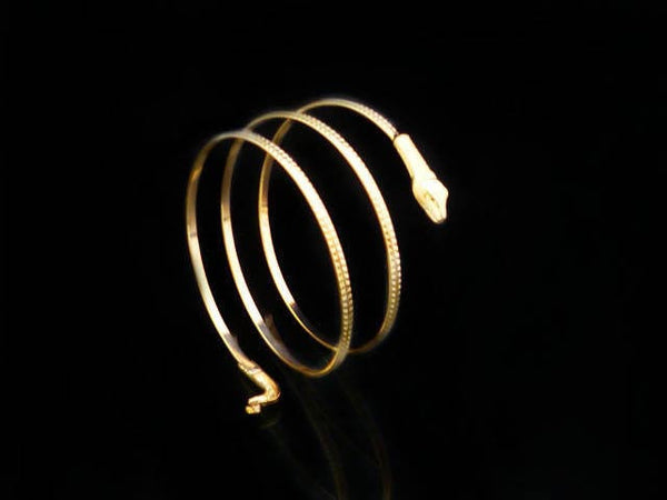 Fashion Punk Coiled Snake Spiral Upper Arm Cuff Bangle Bracelet Armlet For Men &Women - Hespirides Gifts - 2