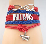Infinity Love INDIANS baseball Sports Team Bracelet Customize Sports friendship Bracelets B09337 - Hespirides Gifts - 7