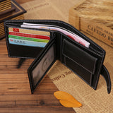 fashion men wallets famous brand genuine leather wallet hasp design wallets with coin pocket purse card holder for men carteira - The Fire Pits Store  - 13