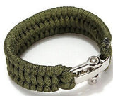 Paracord Survival Bracelet Men Camping Outdoor Woven Parachute Shackle Pin Buckle - Hespirides Gifts - 12