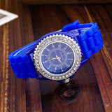 Silicone GENEVA Women Rhinestone Quartz Fashion Wrist Watch Watches - Hespirides Gifts - 6