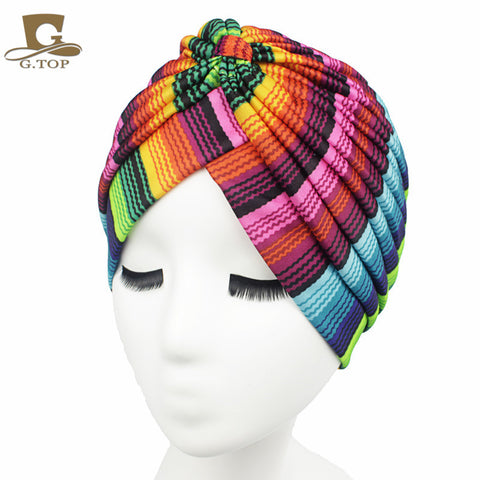 women hat Stretchy Turban Head Wrap Band Sleep Hat Chemo Bandana Hijab - Hespirides Gifts - 1