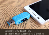 Universal Card Reader Mobile phone PC card reader Micro USB OTG Card Reader OTG TF / SD flash memory Wholesale - Hespirides Gifts - 4