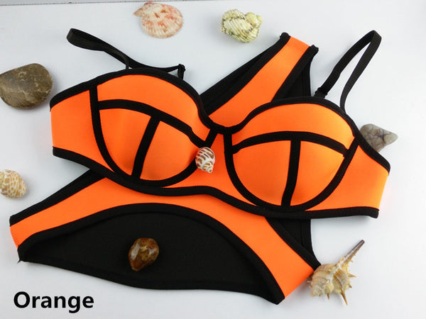 Swimwear Woman Fashion Neoprene Bikinis Women New Summer Sexy Swimsuit Bath Suit Push Up Bikini set Bathsuit Biquini - Hespirides Gifts - 2