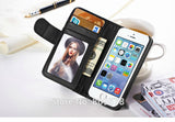 Hot Wallet Flip PU Leather Case For Apple iPhone 4 4S 4G Magnetic Case with Photo Frame Card Holder Smart Stand Skin Bags Cover - The Fire Pits Store  - 16