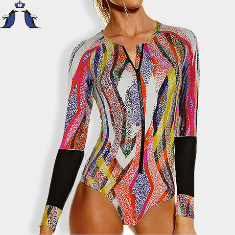 swimsuit women one piece swimsuit long sleeve biquini swimwear women sexy one piece - Hespirides Gifts - 1
