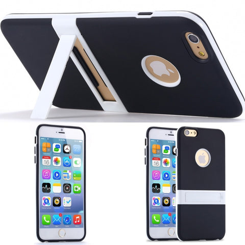 New Candy Color! Kickstand Soft TPU Case for Apple iphone 6 4.7/ Plus 5.5 Ultrathin Lovely Back Cover hole Logo +Body Stand Case - Hespirides Gifts - 1