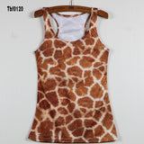New Sexy Leopard Women Graffiti Printing 3D Vest Stripe Tank Tops Women - Hespirides Gifts - 4