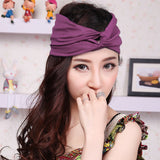 Women's Cotton Turban Twist Head Knot Headband Wrap Twisted Knotted Hair Band - Hespirides Gifts - 4