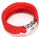 Paracord Survival Bracelet Men Camping Outdoor Woven Parachute Shackle Pin Buckle - Hespirides Gifts - 14