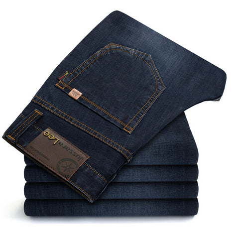 Brand Jeans Straight New Fashion Top quality High Grade Slim jeans Straight Retro men Denim jeans - Hespirides Gifts - 1