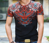 Fashion Plus Size Cotton Vintage Totem Top Summer Man Clothes Men T Shirts Print Tees Fitness Tee Shirt Mens t shirt G120-6 - Hespirides Gifts - 9