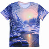european style creative t shirt fashion sightseeing printing t-shirt short sleeve o neck - Hespirides Gifts - 1