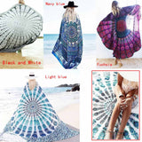 New Peacock Mandala Wall Hanging Cloth Beach Towel Picnic Blanket Shawl - Hespirides Gifts - 1
