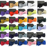 Ties for Men Fashion Tuxedo Classic Mixed Solid Color Butterfly Wedding Party Bowtie Bow Tie - Hespirides Gifts - 1