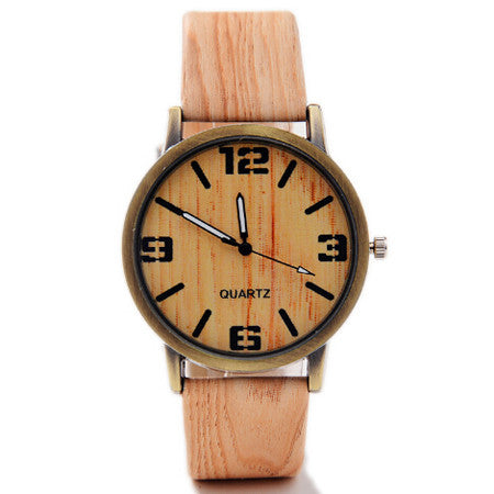 Classical Bamboo Wooden Watch New Arrival Women Wristwatches High Quality Vintage Style Men Dress Watch PU Leather Quartz Watch - Hespirides Gifts - 2