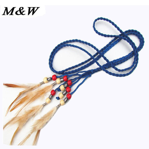 Hot Sale Korean Decorative Tassels Pigtail Waist Rope Braided Specialty Matte Leather Belts For Women Wholesale - Hespirides Gifts - 1