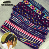 Yoga Hair Bands Women Fitness Headband National Wind Printing Flowers Elastic Running Jogging - Hespirides Gifts - 1
