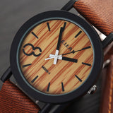 Simulation Wooden Relojes Quartz Men Watches Casual Wooden Color Leather Strap Watch Wood Male Wristwatch Relogio Masculino - The Fire Pits Store  - 10