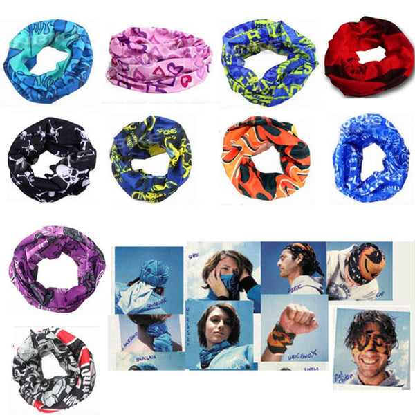 Multi Use Biker Camping & Hiking Scarves Cycle Balaclava Neck Tube Snood Scarf - Hespirides Gifts - 1