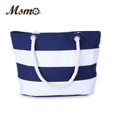 Women Beach Canvas Bag Fashion Color Stripes Printing Handbags Ladies Large Shoulder Bag Totes Casual Bolsa Shopping Bags - Hespirides Gifts - 1