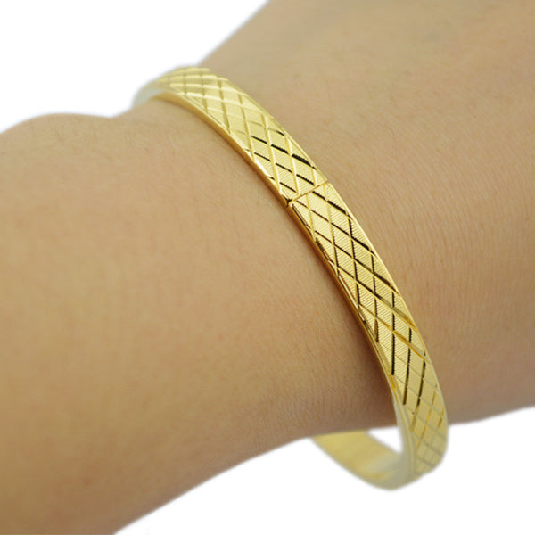 Fashion Dubai gold jewelry 18k gold plated bangles for Ethiopian bangle & bracelets Ethiopian jewelry bangles - Hespirides Gifts - 6