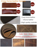 Vintage Crazy Horse Leather Wallets For Men New Card Holder Coin Purse,Natural - Hespirides Gifts - 4