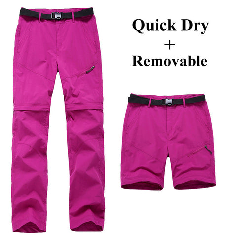 Women Quick Dry Removable Pants Spring Summer Hiking Pants Casual Sport Outdoor Trouser Female Fishing Trekking Pant RW055 - Hespirides Gifts - 1