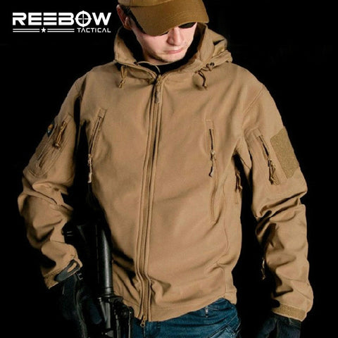 Waterproof Soft Shell Tactical Jacket Outdoor Hunting Sports Army SWAT Military Training Windproof Outerwear Coat Clothing - Hespirides Gifts - 1