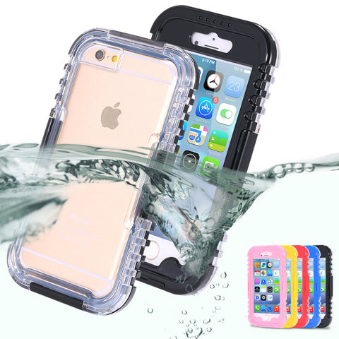 IP-68 Waterproof Heavy Duty Hybrid Swimming Dive Case For Apple iPhone 6 4.7inch 6S Water/Dirt/Shock Proof Phone Bag For iPhone6 - The Fire Pits Store  - 1