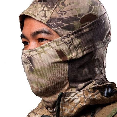 Sinairsoft Rattlesnake Balaclava Tactical Airsoft Helmet Hunting Wargame Breathing Face Mask Motorcycle Skiing Cycling Full Hood - Hespirides Gifts - 1
