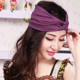 Women's Cotton Turban Twist Head Knot Headband Wrap Twisted Knotted Hair Band - Hespirides Gifts - 1