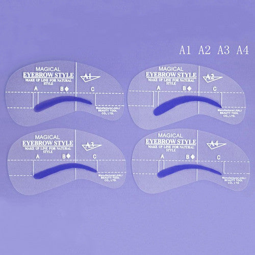 Eyebrow Shaper Stencil 4 styles/set Grooming Shaping DIY Beauty Eyebrow Template Make Up Tool - The Fire Pits Store  - 5