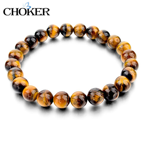 Tiger Eye Love Buddha Bracelets Jewelry Trendy Natural Stone Bracelet For Women - Hespirides Gifts - 1