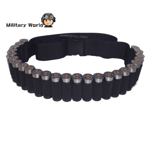 New Arrival Tactical Military 25 Round Shell Bullet Ammo Carrier Waist Belt Airsoft Hunting 600D Nylon Shotgun Bandolier Sling - Hespirides Gifts