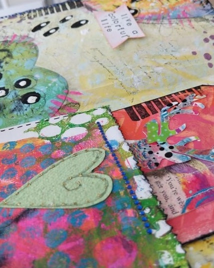 Mixed Media Mail Art Projects on My Art Desk: Mandala, Tags and Zines
