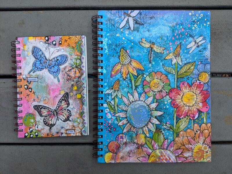 Mixed Media Art Journals Created for a New Art Customer!