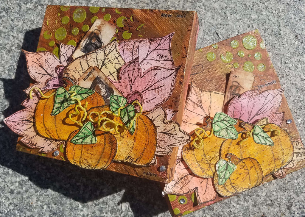 New Products! Fall/Autumn Mixed Media Artwork Now Available!