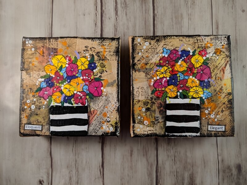 New in the Shop This Morning: Flowers in Black and White Vase Series