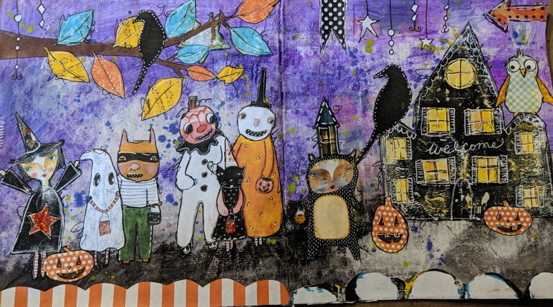 Create with Me: Handmade Junk Journal Halloween Page
