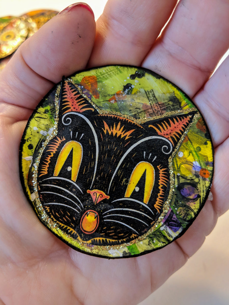 Halloween Inspired Artist Trading Coins How To