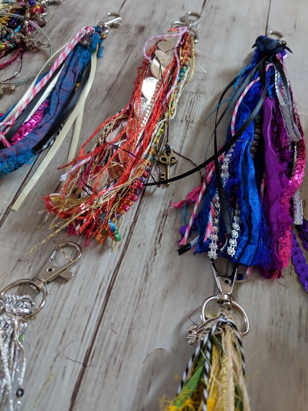 NEW ITEM! Boho Inspired Clips for Purses, Keychains and Planners