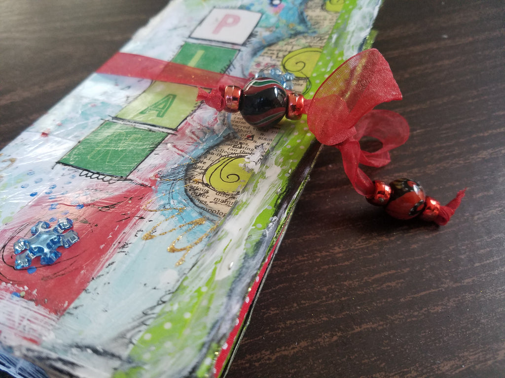 How To Create a Mixed Media Christmas Holiday Planner from a Few Simple Supplies!