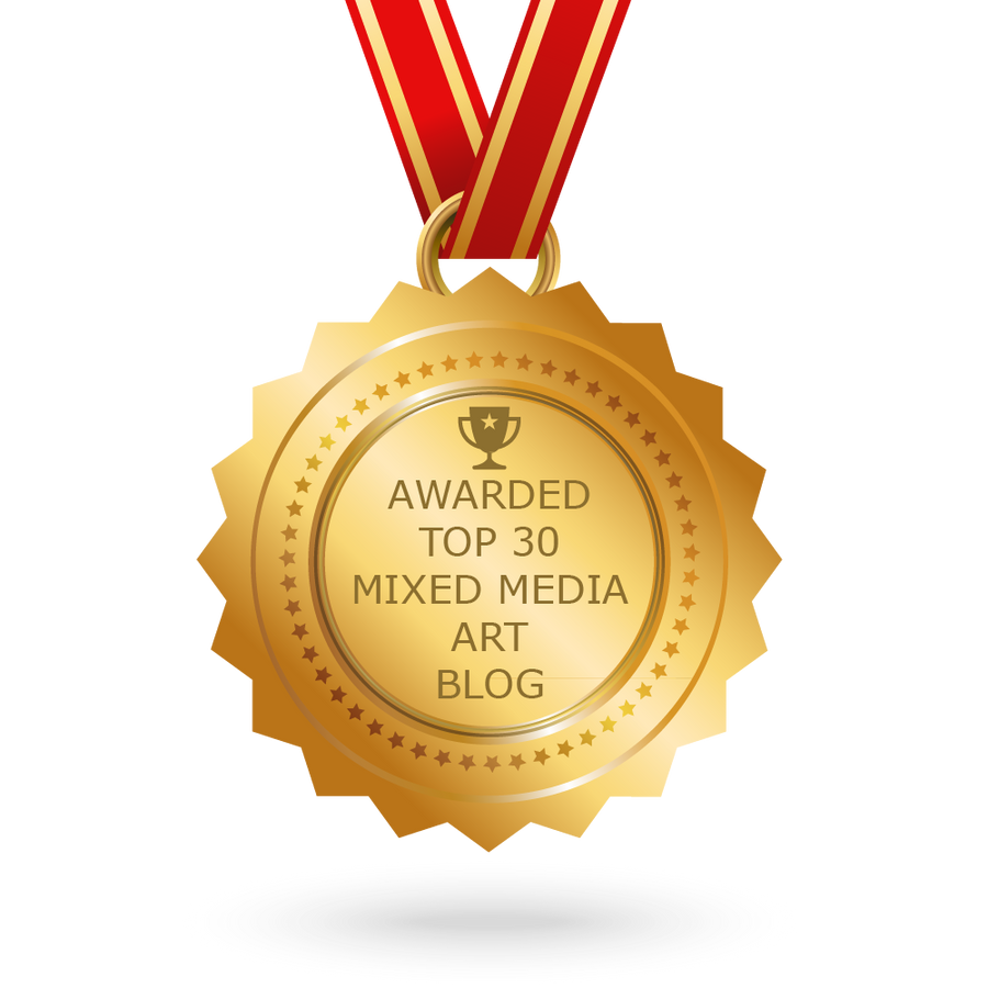 Feedspot Announced the Top 30 Mixed Media Art Blogs... Guess Who Is On the List!!