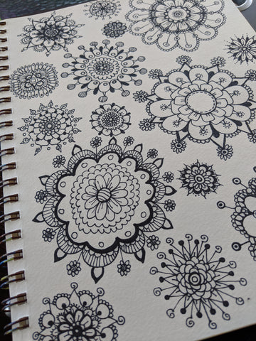 Black and White Art Journal Doodles 1