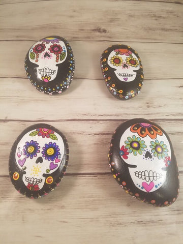 Dia de los Muertos Day of the Dead Handpainted Rocks