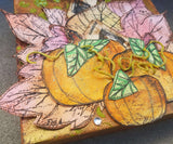 Autumn Mixed Media Fall Canvas with Pumpkins