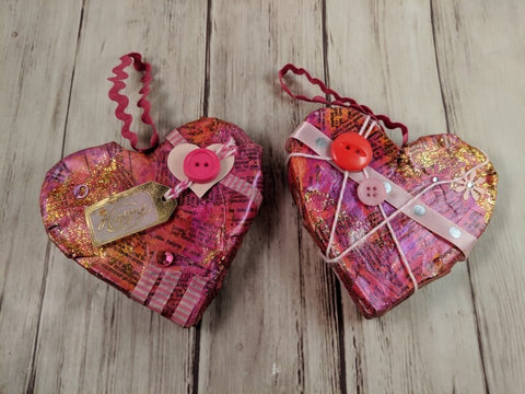 Valentine Heart Hand Painted Ornament